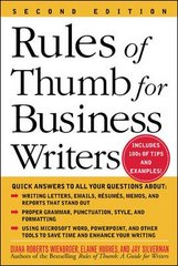Rules of Thumb for Business Writers 2nd edition 9780071457576 0071457577