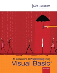 Introduction to Programming Using Visual Basic 10th Edition 9780134542782 0134542789