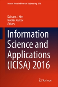 Information Science and Applications (ICISA) 2016 1st Edition 9789811005572 9811005575