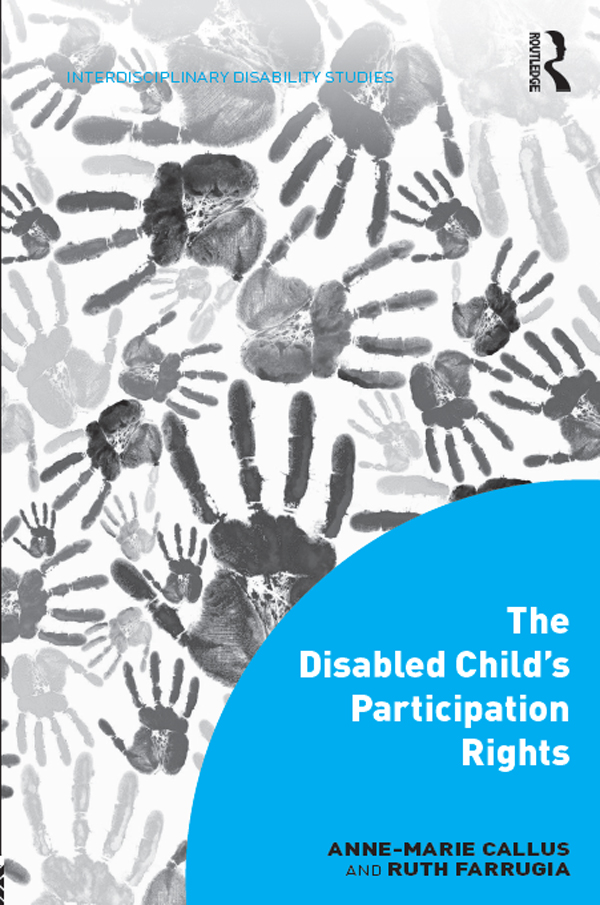 The Disabled Child's Participation Rights 1st Edition 9781317035831 1317035836