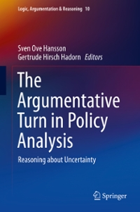 The Argumentative Turn in Policy Analysis 1st Edition 9783319305493 3319305492