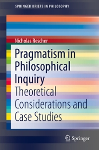 Pragmatism in Philosophical Inquiry 1st Edition 9783319309033 331930903X