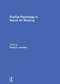 Positive Psychology in Search for Meaning 1st Edition 9781317615200 1317615204