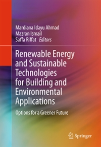 Renewable Energy and Sustainable Technologies for Building and Environmental Applications 1st Edition 9783319318400 3319318403