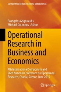 Operational Research in Business and Economics 1st Edition 9783319330037 3319330039