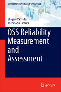 OSS Reliability Measurement and Assessment 1st Edition 9783319318189 3319318187