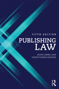 Publishing Law 5th Edition 9781317570981 1317570987