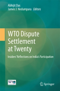 WTO Dispute Settlement at Twenty 1st Edition 9789811005992 9811005990