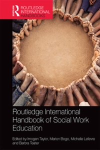 Routledge International Handbook of Social Work Education 1st Edition 9781317495239 1317495233