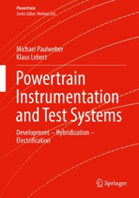 Powertrain Instrumentation and Test Systems 1st Edition 9783319321356 3319321358
