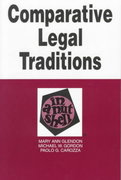Comparative Legal Traditions in a Nutshell 2nd edition 9780314214744 0314214747