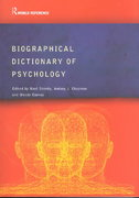 Biographical Dictionary of Psychology 1st edition 9780415285612 0415285615