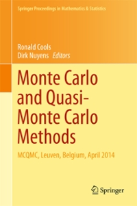 Monte Carlo and Quasi-Monte Carlo Methods 1st Edition 9783319335070 3319335073