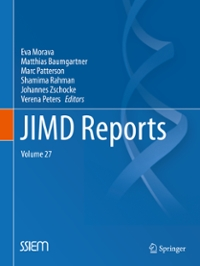 JIMD Reports, Volume 27 1st Edition 9783662504093 366250409X