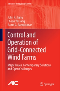 Control and Operation of Grid-Connected Wind Farms 1st Edition 9783319391359 3319391356