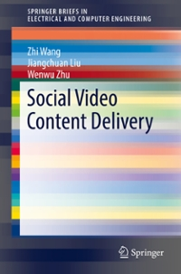 Social Video Content Delivery 1st Edition 9783319336527 3319336525