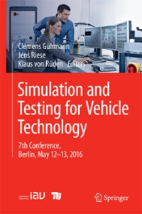 Simulation and Testing for Vehicle Technology 1st Edition 9783319323459 3319323458