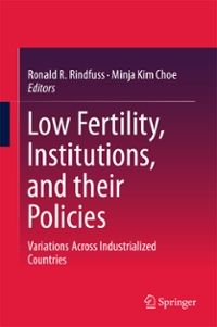 Low Fertility, Institutions, and their Policies 1st Edition 9783319329970 3319329979