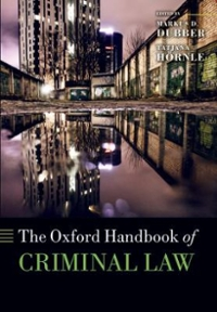 The Oxford Handbook of Criminal Law 1st Edition 9780199673605 0199673608