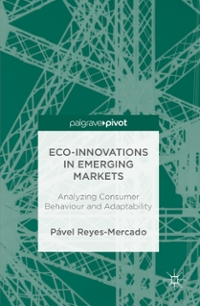 Eco-Innovations in Emerging Markets 1st Edition 9781137587428 1137587423