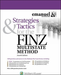 Strategies and Tactics for the FINZ Multistate Method 4th Edition 9781454873143 1454873140