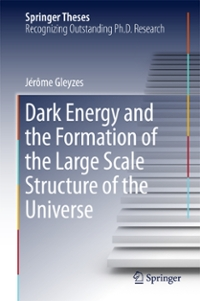 Dark Energy and the Formation of the Large Scale Structure of the Universe 1st Edition 9783319412108 3319412108