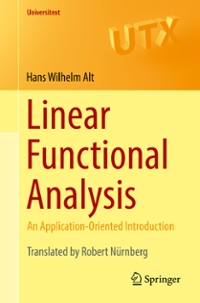 Linear Functional Analysis 1st Edition 9781447172802 1447172809