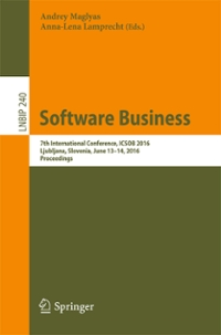 Software Business 1st Edition 9783319405155 3319405152