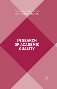 In Search of Academic Quality 1st Edition 9781137298294 1137298294