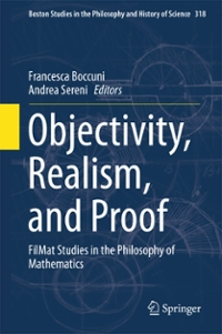 Objectivity, Realism, and Proof 1st Edition 9783319316444 3319316443