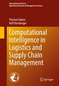 Computational Intelligence in Logistics and Supply Chain Management 1st Edition 9783319407227 3319407228