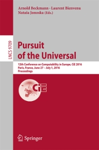 Pursuit of the Universal 1st Edition 9783319401898 3319401890