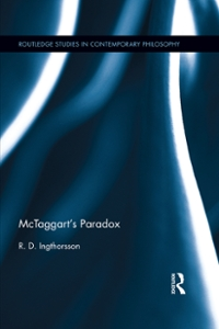 McTaggarts Paradox 1st Edition 9781317195825 1317195825