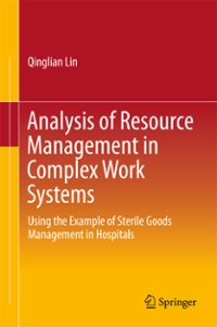 Analysis of Resource Management in Complex Work Systems 1st Edition 9789811021701 9811021708