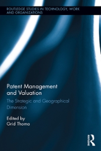 Patent Management and Valuation 1st Edition 9781317405719 1317405714