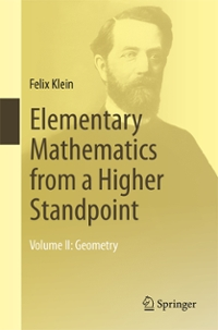 Elementary Mathematics from a Higher Standpoint 1st Edition 9783662494455 3662494450