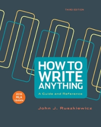 How to Write Anything with 2016 MLA Update 3rd Edition 9781319114930 1319114938
