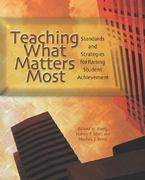 Teaching What Matters Most 1st Edition 9780871205186 0871205181