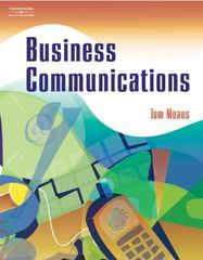 Business Communications 1st edition 9780538436823 0538436824