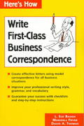 Write First-Class Business Correspondence 1st edition 9780844220741 0844220744