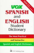 Vox Spanish and English Student Dictionary 1st edition 9780844224381 0844224383