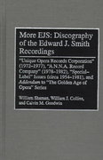 More Ejs - Discography of the Edward J. Smith Recordings 0 9780313298356 0313298351