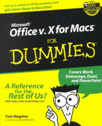 Microsoft Office v.X for Macs For Dummies 1st edition 9780764516382 0764516388