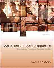 Managing Human Resources 8th edition 9780073530260 0073530263