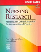 Study Guide for Nursing Research 6th edition 9780323031707 0323031706