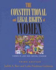 The Constitutional and Legal Rights of Women 3rd edition 9780195330748 0195330749