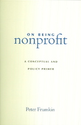 On Being Nonprofit 1st Edition 9780674018358 0674018354