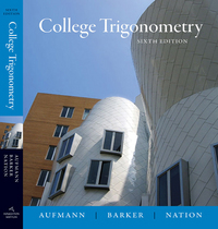 College Trigonometry 6th edition 9780618825073 061882507X