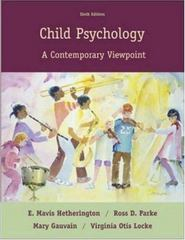 Child Psychology 6th Edition 9780073197814 0073197815