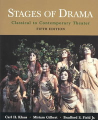 Stages of Drama 5th Edition 9780312397333 031239733X